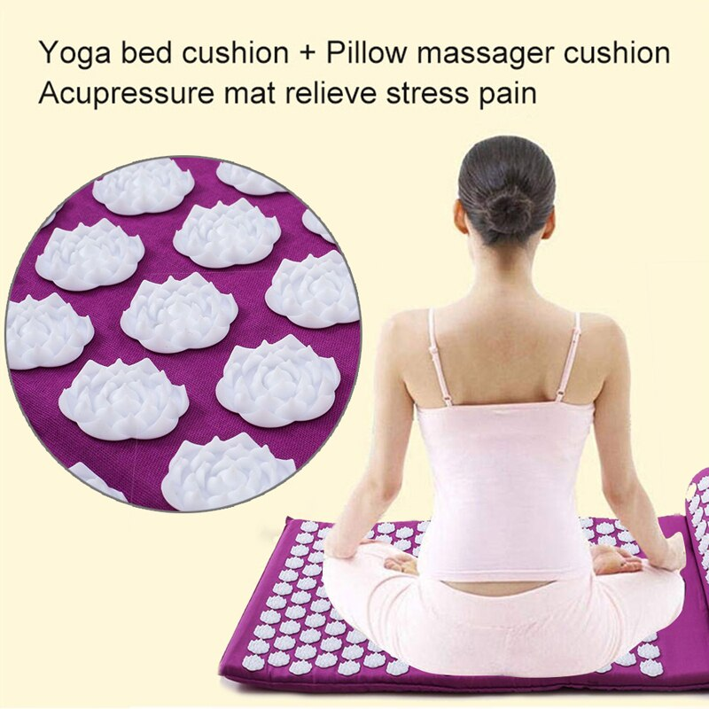 Acupressure Massage Yoga Mat with Premium Muscle Relieving ...
